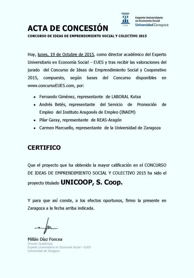 ACTA DE RESOLUCIÓN DE CONCURSO _Octubre 2015_